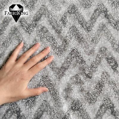 Zigzag glitter black, trikoo (single jersey)