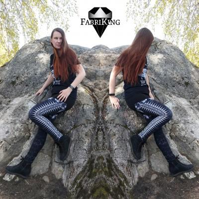 Gothic black, trikoo - langansuunnan vastaisesti leikattu