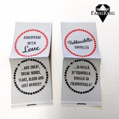 "Ompelumerkki ""Handmade with Love"" 10kpl"
