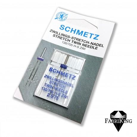 Ompelukoneneula: Schmetz twin stretch 75/2.5