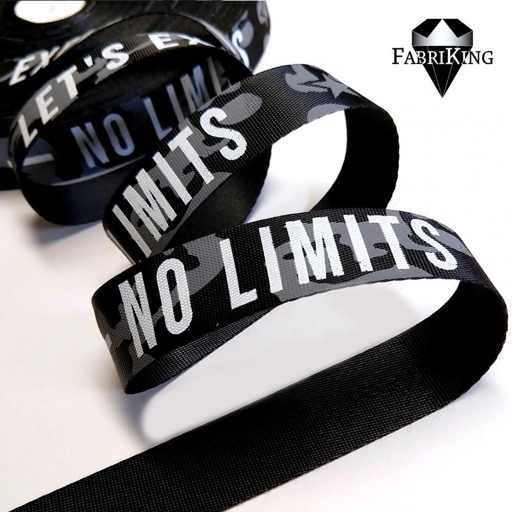 "Koristenauha ""No limits"" 25mm"