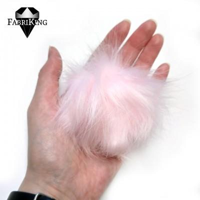 Tupsu, keinoturkista 8cm, vaaleanpunainen