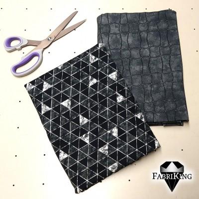 Simple grey & Shine black silver, trikoo