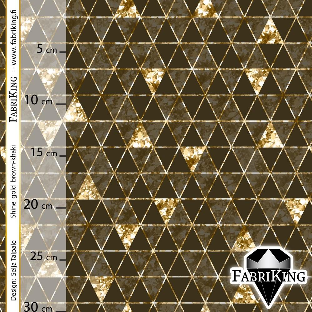 Shine gold brown-khaki