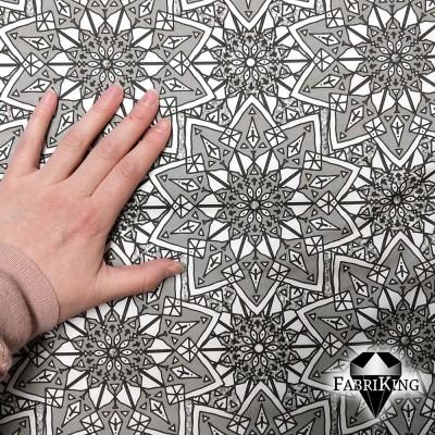 Starflower grey, puuvillasatiini