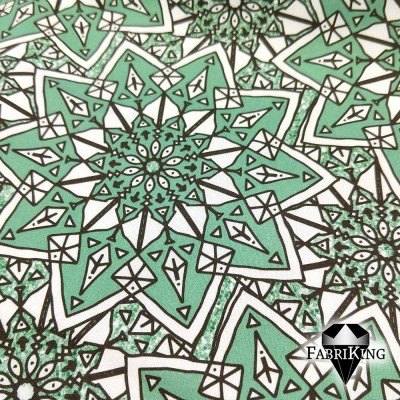 Starflower jade, puuvillasatiini