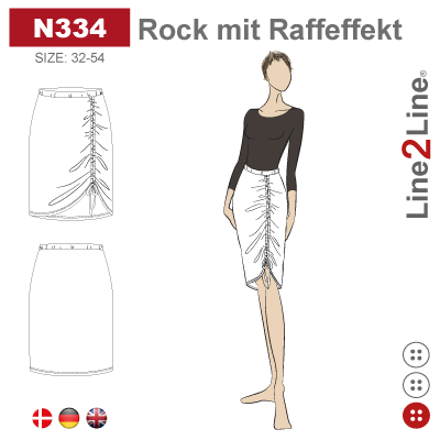 Line2Line: Skirt with wrinkle effect