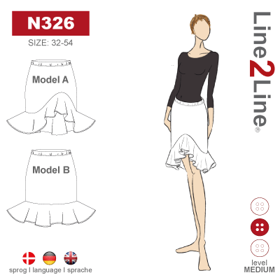 Line2Line: Skirt with Flounce and Elastic