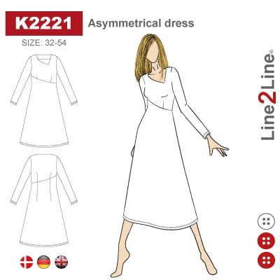 Line2Line: Asymmetrical dress