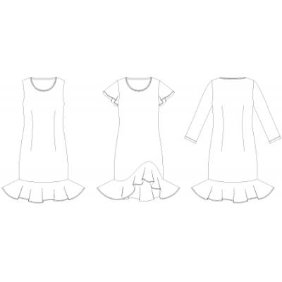 Line2Line: Dress with flounce