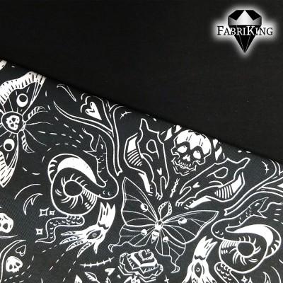 Gothic Halloween dark, luomutrikoo & trikoo, musta
