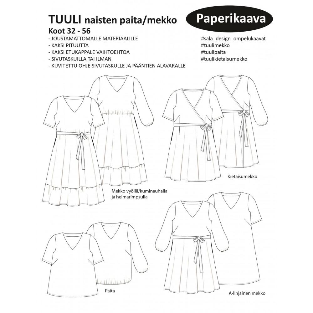 Sala-Design: TUULI naisten paita/mekko