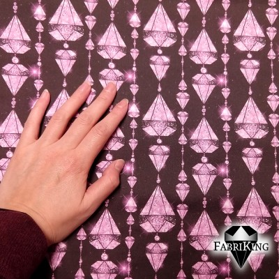 Diamonds pink, puuvillasatiini