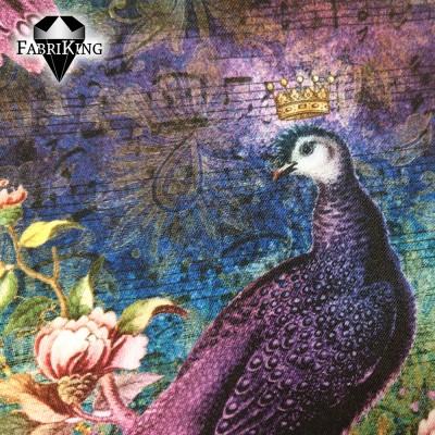 Peacock fantacy, puuvillasatiini