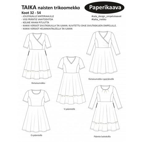 Sala-Design: TAIKA naisten trikoomekko