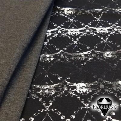 Crystal black, luomutrikoo & grey granite single jersey