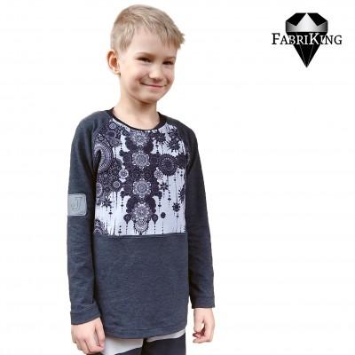trikoo, harmaa graniitti & Mandala grey, trikoo