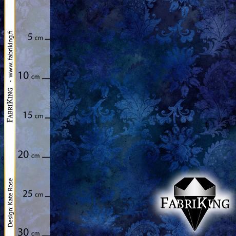 Flower forest blue, trikoo (single jersey)