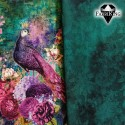 Flower forest green, single jersey & Peacock fantasy, single jersey