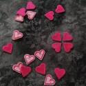 Silitysmerkki sydän 3kpl, pinkki