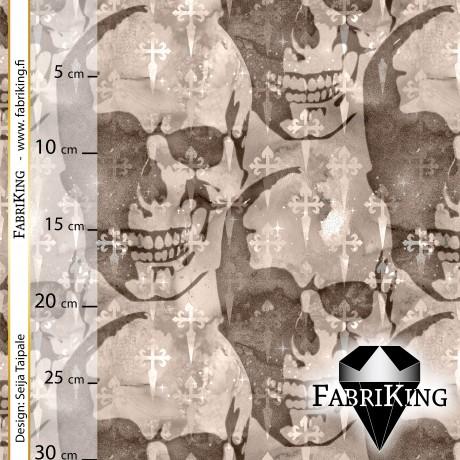 Gothic skulls brown (gradient), joustocollege
