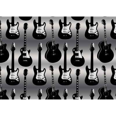 A6 postikortti: Guitars metallic