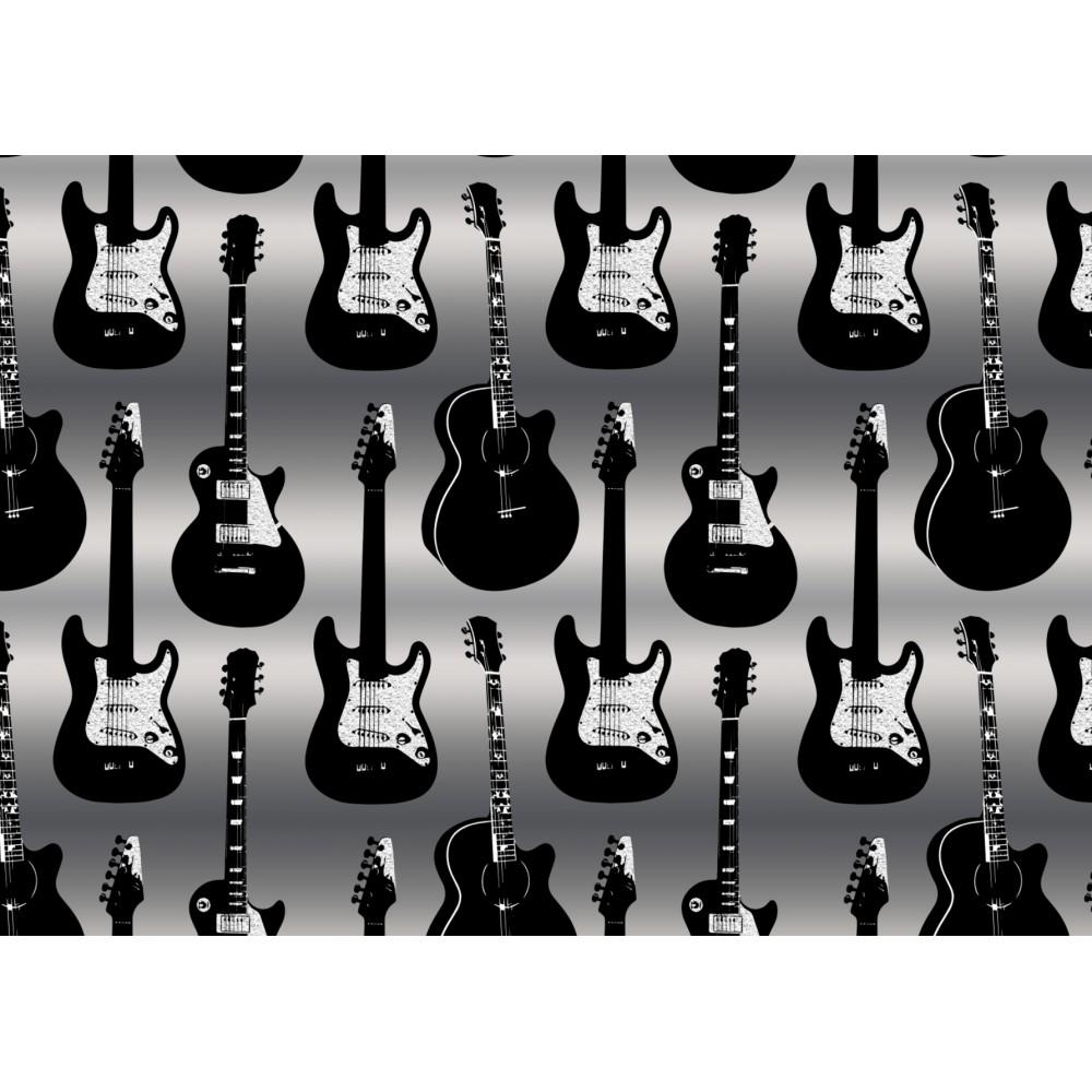 A6 postikortti: Guitars metallic
