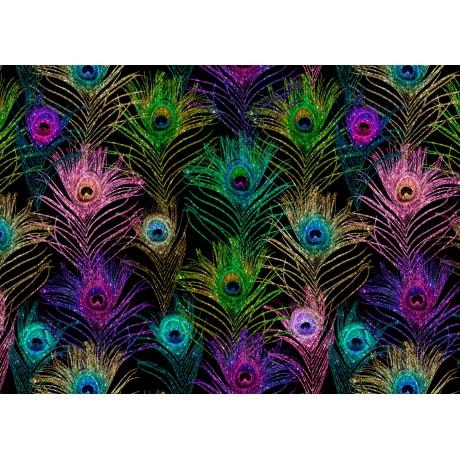 A6 postikortti: Peacock glitter