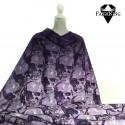 Gothic skulls violet (gradient), single jersey