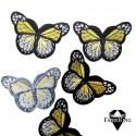 Silitysmerkki perhonen, keltainen
