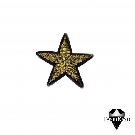 Silitysmerkki tähti (4,8 cm), kulta