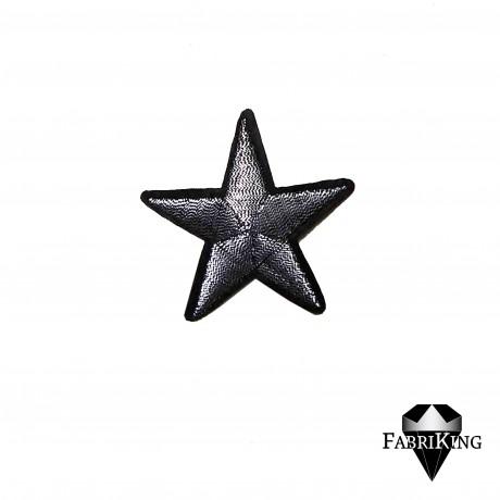 Silitysmerkki tähti (4,8 cm), hopea