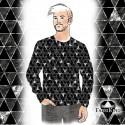 Shine silver black - kuosi digitaalisesti siirretty vaatteeseen!