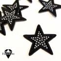 Silitysmerkki tähti (5 cm) strasseilla, musta