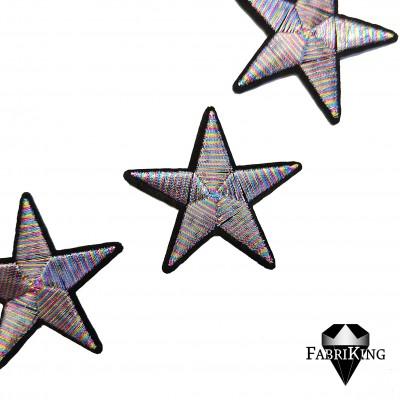 Silitysmerkki tähti (4,8 cm), sateenkaari