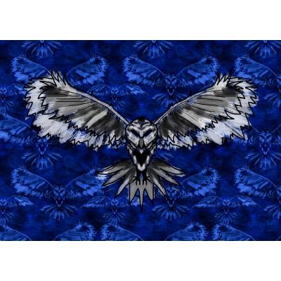A6 postikortti: Owl dark blue