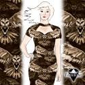 Owl sepia