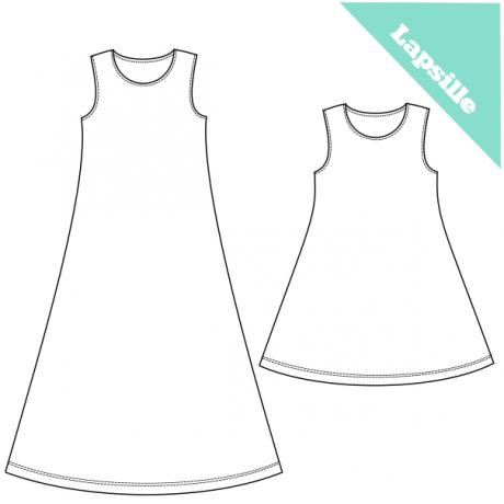 PuuhakasPaja: Hihaton mekko Salli (104-164)