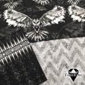 Owl black & Gothic balck & Zigzag glitter black, trikoo