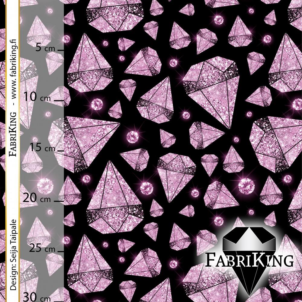 Diamond rain black pink, trikoo (single jersey)