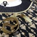 Diamonds gold, trikoo & joustotylli pilkullinen & kanttinauha, kulta