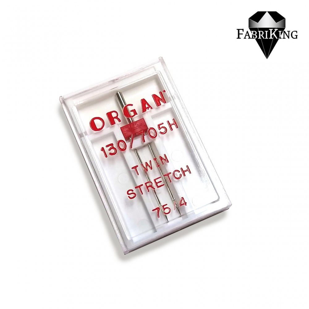 Ompelukoneneula: Organ twin stretch 75/4