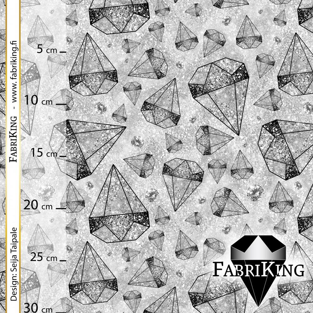 Diamond rain silver, puuvillapanama