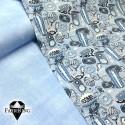 Jeanslook light blue, joustocollege & Cjamp blue, trikoo