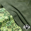 Jeanslook army green, joustocollege & Champ lime, trikoo