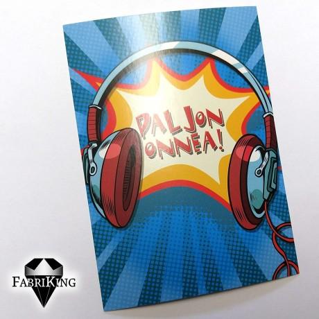A6 postikortti: Paljon Onnea!