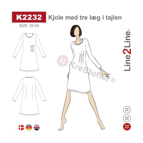 Line2Line: Dress with three waist pleats